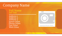 Orange and Yellow Photo Business Card Template